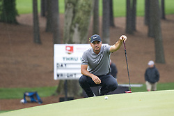 May 5, 2019 - Charlotte, North Carolina, United States of America - Jason Day reads a birdie putt on the second hole during the final round of the 2019 Wells Fargo Championship at Quail Hollow Club on May 05, 2019 in Charlotte, North Carolina. (Credit Image: © Spencer Lee/ZUMA Wire)