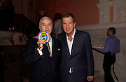 Manolo Blahnik and Mario Testino, Launch of 'Kids' by Mario Testino in aid of the Sargent Cancer Care For children, Dartmouth House, 20 October 2003. © Copyright Photograph by Dafydd Jones 66 Stockwell Park Rd. London SW9 0DA Tel 020 7733 0108 www.dafjones.com