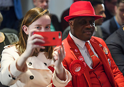 © Licensed to London News Pictures. 09/04/2018. London, UK. Labour Party members attend the launch event for the Labour Party local election campaign launch in central London.  Labour are expected to make gains in the capital, potentially taking traditionally Conservative strongholds. Photo credit: Ben Cawthra/LNP