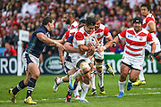 Japan's Yu Tamura during the Rugby World Cup Pool B match between Scotland and Japan at the Kingsholm Stadium, Gloucester, United Kingdom on 23 September 2015. Photo by Shane Healey.