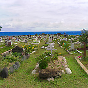 This is one of the most remotes cemeteries on the planet. The cemetery of Hanga Roa Easter Island.