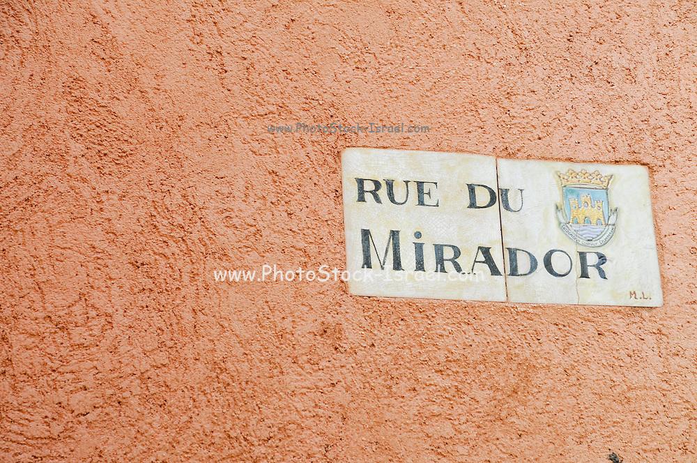Rue Du Mirador, Collioure, Cote Vermeille, Pyranees-Orientales, Languedoc-Rousillon, France