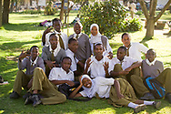 Students of the Kaloleni Primary School in Arusha Tanzania.  Tanzania has recently instituted a policy to drop school fees, which has increased enrollment, however completion reates and secondary school attendance levels remain low due to a shortage of primary schools.