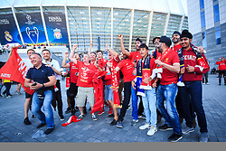 Supporters of Liverpool prior the UEFA Champions League final football match between Liverpool and Real Madrid at the Olympic Stadium in Kiev, Ukraine on May 26, 2018.Photo by Sandi Fiser / Sportida