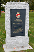 The HMS Argonaught Memorial at the National Memorial Arboretum, Croxall Road, Alrewas, Burton-On-Trent,  Staffordshire, on 29 October 2018. Picture by Mick Haynes.