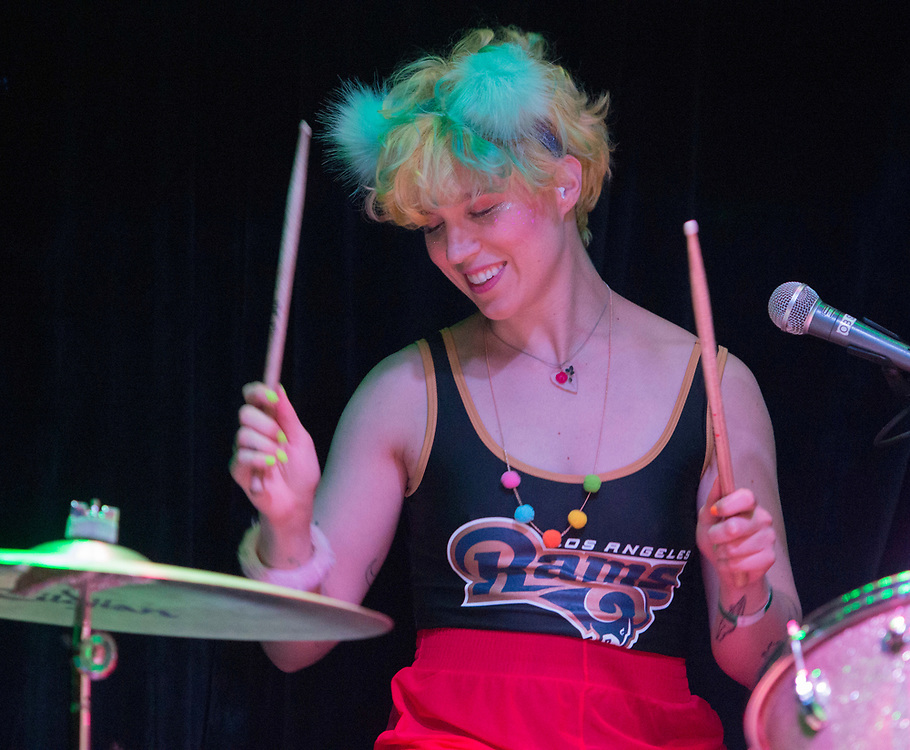 Lelah Maupin of Tacocat performing at the Constellation Room in Santa Ana, CA, April 19, 2017