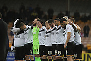 Port Vale before kick off of the The FA Cup match between Port Vale and Maidenhead United at Vale Park, Burslem, England on 8 November 2015. Photo by Jemma Phillips.