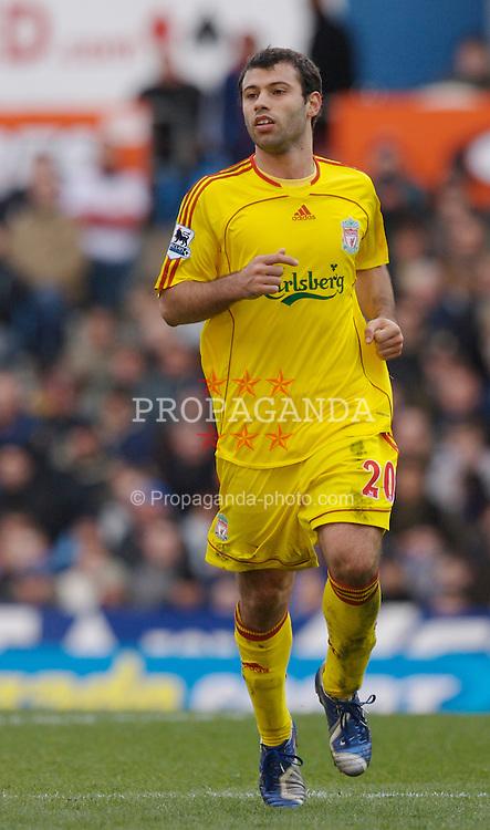 Birmingham, England - Sunday, March 3, 2007: Liverpool's Javier Mascherano in action against Aston Villa during the Premiership match at Villa Park. (Pic by David Rawcliffe/Propaganda)