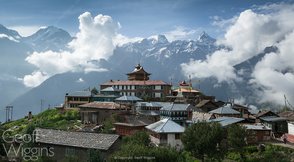 Kalpa village close to Recong Peo in the Kinnaur district of Himachal Pradesh, Northern India,