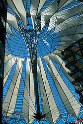 GERMANY BERLIN APR04 - Roof construction of Sony Centre, Kollhof Tower, Leipziger Platz, Berlin.<br /> <br /> <br /> <br /> jre/Photo by Jiri Rezac <br /> <br /> <br /> <br /> © Jiri Rezac 2004