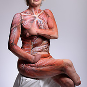 Corinne Hutton (46) quadruple amputee with organ body paint<br />  <br /> Ashley Reid<br /> T: 07885 262 341<br /> www.findingyourfeet.net<br />  <br /> <br /> Photo supplied courtesy of Finding Your Feet for use with press released story only. First Use Only<br /> <br /> &copy; John Linton 2016<br /> All rights reserved <br /> <br /> Photogra[h supplied for use by Finding Your Feet only. Those wishing to  publish both electronically and in print must have written permission to use the image for editorial use only in conjunction with the press released story by John Linton.<br /> <br /> No marketing useage has been authorised for any party other than Finding Your Feet.<br /> <br /> John Linton 07986592673 john@lintonpix.com