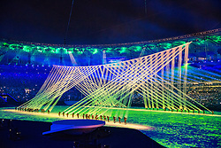 05.08.2016, Maracana, Rio de Janeiro, BRA, Rio 2016, Olympische Sommerspiele, Eröffnung der XXXI. Olympiade, im Bild Choreographie // Overview of the Showprogram during the Opening Ceremony of the Rio XXXI 2016 Olympic Summer Games at the Maracana in Rio de Janeiro, Brazil on 2016/08/05. EXPA Pictures © 2016, PhotoCredit: EXPA/ Johann Groder