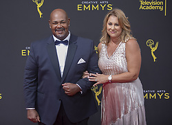 September 14, 2019, Los Angeles, California, United States of America: Kevin Michael Richardson and guest at the red carpet of the 2019 Creative Arts Emmy Awards on Saturday September 14, 2019 at the Microsoft Theater in Los Angeles, California. JAVIER ROJAS/PI (Credit Image: © Prensa Internacional via ZUMA Wire)