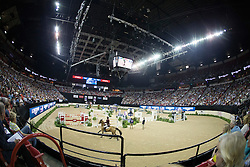 Sheikh Ali Al Thani Bin Khalid, (QAT), First Devision <br />  Longines FEI World Cup™ Jumping Final Las Vegas 2015<br />  © Hippo Foto - Dirk Caremans<br /> Final III round 2 - 19/04/15