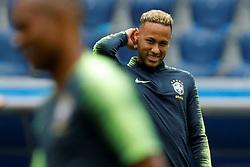 June 21, 2018 - Saint Petersburg, Russia - Neymar during a Brazil national team training session during the FIFA World Cup 2018 on June 21, 2018 at Saint Petersburg Stadium in Saint Petersburg, Russia. (Credit Image: © Mike Kireev/NurPhoto via ZUMA Press)