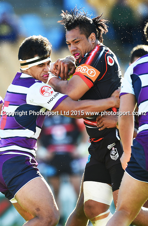 Paul Tuli during the Junior Warriors v Junior Storm match. NYC Holden Cup U20s Rugby League. Mt Smart Stadium, Auckland. New Zealand. Sunday 12 July 2015. Copyright Photo: Andrew Cornaga / www.Photosport.nz