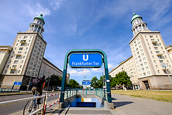 East German architecture at Frankfurter Tor on Karl Marx Allee in Berlin Germany