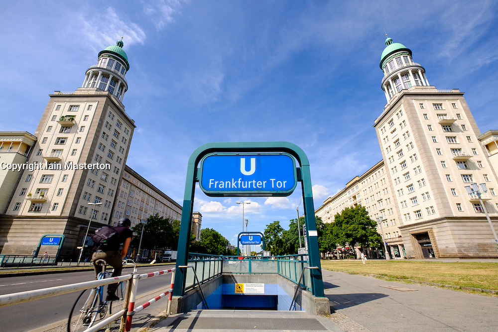 East German architecture at Frankfurter Tor on Karl Marx Allee in Berlin Germany
