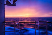 Sunrise at Sea, aboard the Ocean Endeavour<br /> <br /> Circumnavigation of Newfoundland<br /> w/ Adventure Canada