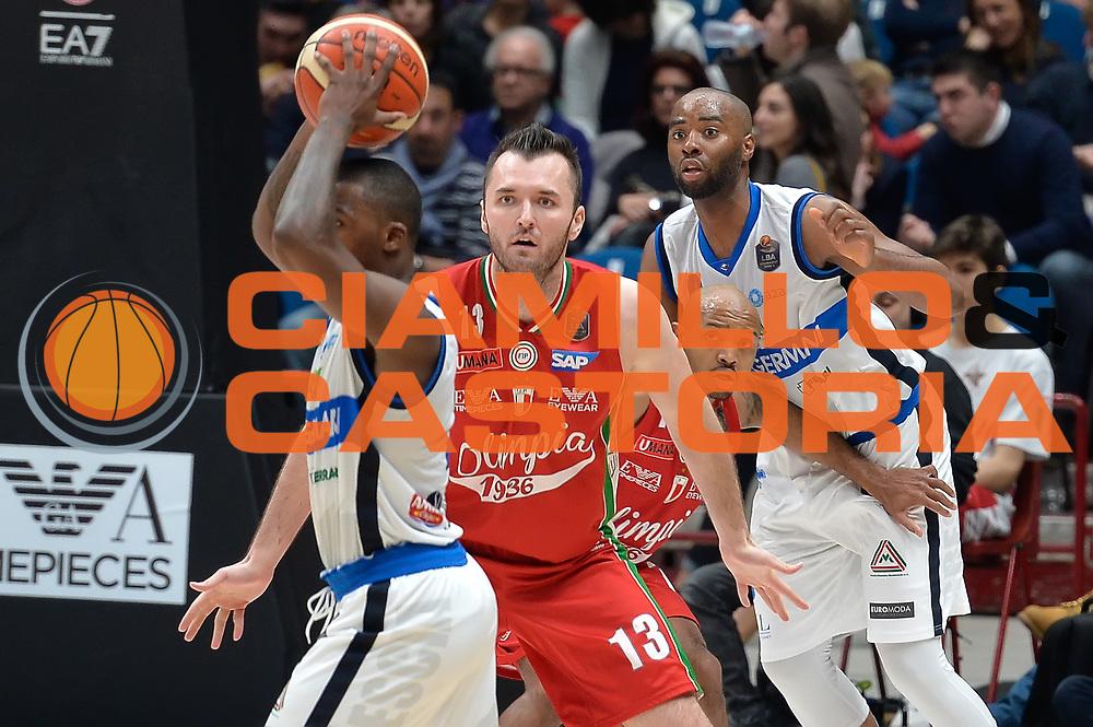Milan Macvan,Hickman Richard,Landry Marcus<br /> Olimpia EA7 Emporio Armani Milano vs Basket Leonessa Brescia<br /> Lega A 2016/2017<br /> Milano 12/02/2017<br /> Foto Ciamillo-Castoria