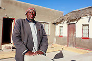 Daniel is the Sekuruwe village headman and one of the elders at the forefront for compensation. He is aware of the negative economic effect the mining is having on the land. 'The land will come back to the community but it will be useless.&rsquo;<br /> <br /> Sekururwe is small community in Limpopo. They lost most of their agricultural land in 2005 when it was leased to a platinum mine. These photographs were taken as the community fought to get further compensation from the mine. They believe they were not fully involved in the consultation process or made aware of the affects the mine would bring to the economy of the village, their way of life, their ancestral graves and underground water.<br /> <br /> As a result of negotiations initiated by the Legal Resources Centre the mine made a substantial offer for financial compensation in 2011. South African law stipulates that consent must be gained before mining on communal land yet it is unclear how and whom this consent is gained from.<br /> <br /> &copy;Zute &amp; Demelza Lightfoot / Legal Resources Centre