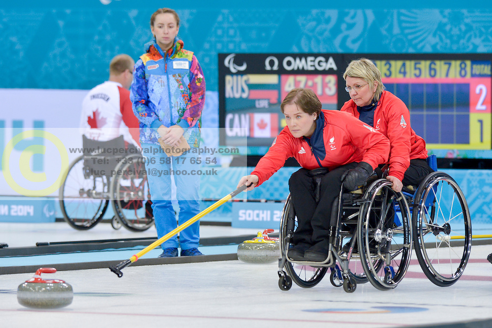 Aileen Neilson, Angie  Malone, Wheelchair Curling Finals at the 2014 Sochi Winter Paralympic Games, Russia