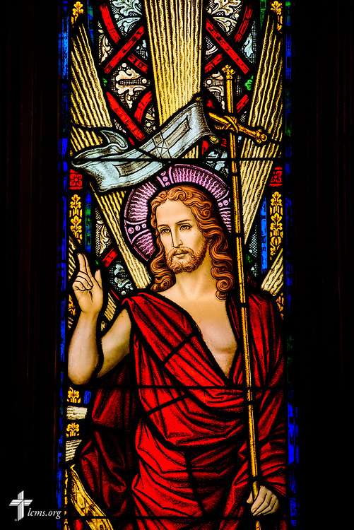 Stained glass depicting Jesus Christ on Wednesday, Sept. 20, 2017, at Prince of Peace Lutheran Church in the Over-the-Rhine neighborhood of Cincinnati. LCMS Communications/Erik M. Lunsford