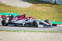 February 19, 2019 - Barcelona, Spain - Antonio Giovinazzi of Alfa Romeo Racing whit the new C38 car during second journey of F1 Test Days in Montmelo circuit, on February 19, 2019. (Credit Image: © Javier MartíNez De La Puente/NurPhoto via ZUMA Press)