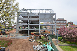 Camera View: West. Site Overview from Marie Sanford Hall, East Elevation. Central Connecticut State University. New Academic Building.  Project No: BI-RC-324. Architect: Burt Hill Kosar Rittelmann Associates. Contractor: Gilbane Building Company, Glastonbury, CT.
