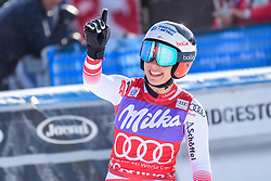 19.01.2019, Olympia delle Tofane, Cortina d Ampezzo, ITA, FIS Weltcup Ski Alpin, Abfahrt, Damen, im Bild Nicole Schmidhofer (AUT, zweiter Platz ) // decond place Nicole Schmidhofer of Austria reacts after her run in the ladie's Downhill of FIS ski alpine world cup at the Olympia delle Tofane in Cortina d Ampezzo, Italy on 2019/01/19. EXPA Pictures © 2019, PhotoCredit: EXPA/ Erich Spiess