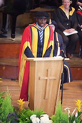 © Licensed to London News Pictures. 13/07/2012. Bolton , UK . Bolton University awards footballer Fabrice Muamba with an honorary degree in recognition of the medical professionals who saved his life . Photo credit : Joel Goodman/LNP