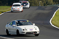 #81 Spencer / Cox Honda Integra 1800 during the CSCC Tin Tops at Oulton Park, Little Budworth, Cheshire, United Kingdom. October 15 2016. World Copyright Peter Taylor/PSP. <br /> Copy of publication required for printed pictures.  Every used picture is fee-liable. http://archive.petertaylor-photographic.co.uk