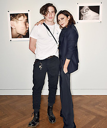 """Victoria Beckham releases a photo on Instagram with the following caption: """"So proud of @brooklynbeckham X Thank u @christiesinc #whatisee X VB"""". Photo Credit: Instagram *** No USA Distribution *** For Editorial Use Only *** Not to be Published in Books or Photo Books ***  Please note: Fees charged by the agency are for the agency's services only, and do not, nor are they intended to, convey to the user any ownership of Copyright or License in the material. The agency does not claim any ownership including but not limited to Copyright or License in the attached material. By publishing this material you expressly agree to indemnify and to hold the agency and its directors, shareholders and employees harmless from any loss, claims, damages, demands, expenses (including legal fees), or any causes of action or allegation against the agency arising out of or connected in any way with publication of the material."""