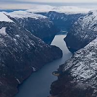Long and winding Nærøyfjord a november day.
