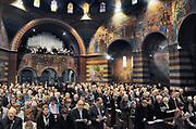 Nederland, Heiliglandstichting, 13-1-2008Eucharistieviering in de Cenakelkerk in Heilig Landstichting bij Nijmegen. Deze is met tien andere kerken en twee synagogen op initiatief van het museum Catharijneconvent onderdeel geworden van het grootste museum Van Nederland. Foto: Flip Franssen