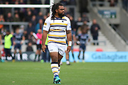 Joe Taufete'e Worcester Warriors during the Gallagher Premiership Rugby match between Sale Sharks and Worcester Warriors at the AJ Bell Stadium, Eccles, United Kingdom on 9 September 2018.