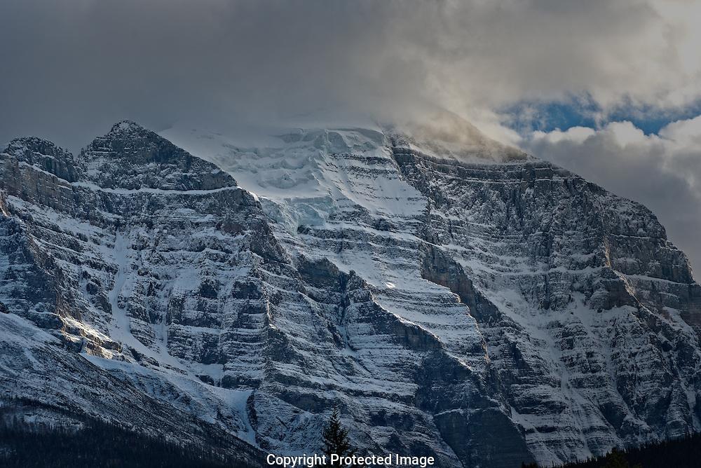 Temple Mountain at dawn., Alberta, Canada, Isobel Springett