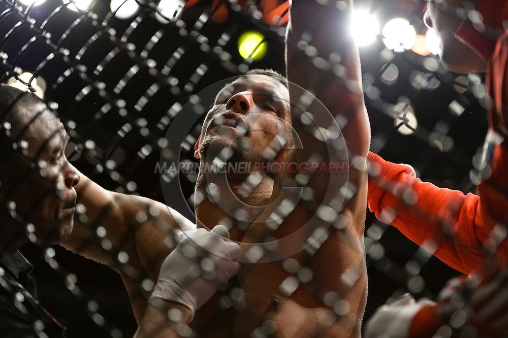 """STOCKHOLM, SWEDEN, APRIL 14:  Yoislandy Izquierdo during """"UFC on Fuel TV: Gustafsson vs. Silva"""" inside the Ericsson Globe Arena in Stockholm, Sweden"""