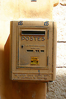 Post box in Roquebrune Village South of France