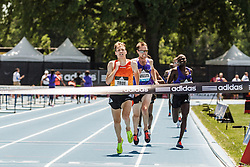 adidas Grand Prix Diamond League Track & Field: Men's 5000m, Ben True, USA, battles Nick Willis, NZL, to win