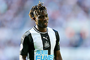Christian Atsu (#30) of Newcastle United during the Premier League match between Newcastle United and Watford at St. James's Park, Newcastle, England on 31 August 2019.