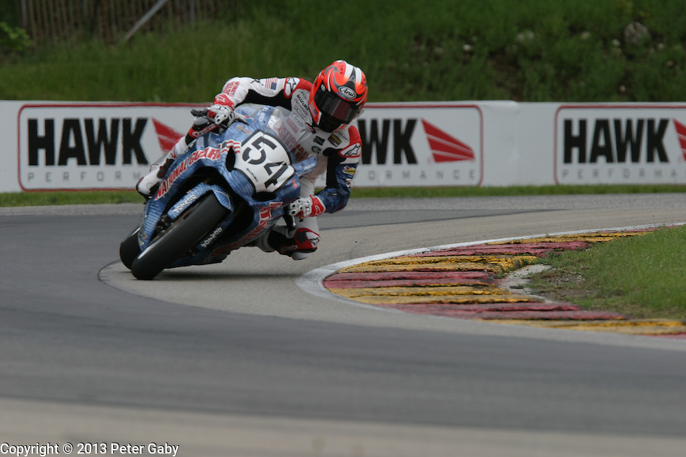 AMA Pro National Guard SuperBike Warm-Up during the 2013 Subway SuperBike Doubleheader held at  Road America,  Elkhart Lake,  WI. on June 2, 2013.
