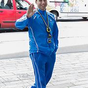 NLD/Rotterdam/20120616 - Deel cast filmopname De Marathon, Mimoun Oaïssa
