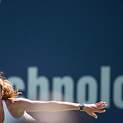 August 22, 2016, New Haven, Connecticut: <br /> Annika Beck of Germany in action during a match on Day 4 of the 2016 Connecticut Open at the Yale University Tennis Center on Monday August  22, 2016 in New Haven, Connecticut. <br /> (Photo by Billie Weiss/Connecticut Open)