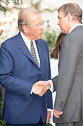 27.JULY.2009. LONDON<br /> <br /> DAVID FROST TALKS TO PRINCE ANDREW AS HE HOSTS HIS ANNUAL SUMMER GARDEN PARTY AT HIS HOUSE IN CHELSEA.<br /> <br /> BYLINE: EDBIMAGEARCHIVE.COM<br /> <br /> *THIS IMAGE IS STRICTLY FOR UK NEWSPAPERS AND MAGAZINES ONLY*<br /> *FOR WORLD WIDE SALES AND WEB USE PLEASE CONTACT EDBIMAGEARCHIVE - 0208 954 5968*