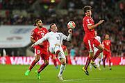 England's Wayne Rooney  during the UEFA European 2016 Qualifying match between England and Switzerland at Wembley Stadium, London, England on 8 September 2015. Photo by Shane Healey.