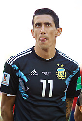 MOSCOW, RUSSIA - Saturday, June 16, 2018: Argentina's Angel Di Maria before the FIFA World Cup Russia 2018 Group D match between Argentina and Iceland at the Spartak Stadium. (Pic by David Rawcliffe/Propaganda)