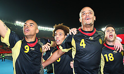 25.03.2011, Ernst Happel Stadion, Wien, AUT, EURO 2012 Qualifikation, Oesterreich vs Belgien, im Bild  Marvin Ogunjimi, (BEL, #9), Axel Witsel, (BEL, #10), Vincent Kompany, (BEL, #4) and Kevin Mirallas, (BEL, #18) // during the Euro 2012 Qualifier Game, Austria vs Belgium, at Ernst Happel Stadium, Vienna, Austria 03/25/2011, EXPA Pictures © 2010, PhotoCredit: EXPA/ T. Haumer