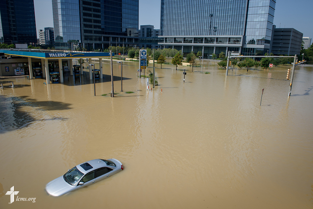 Flooding from Hurricane Harvey on Friday, Sept. 1, 2017, in Houston, Texas. LCMS Communications/Erik M. Lunsford