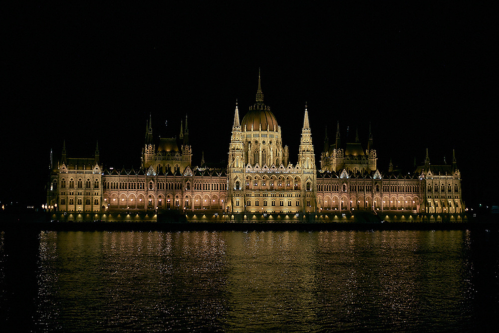 Long Exposure of the Hungarian Parliament Building in Budapest